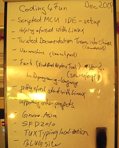 Coding for fun一天中所有参与者的项目都在列表中